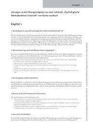 Lösungen zu den Übungsaufgaben aus dem Lehrbuch