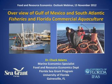 Landings - Food and Resource Economics Department - University ...