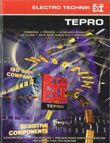 Tepro and Vamistor Products Catalog