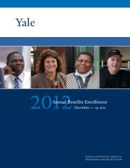 Annual Benefits Enrollment - Yale University