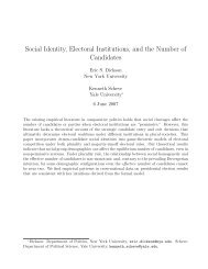 Social Identity, Electoral Institutions, and the ... - Yale University