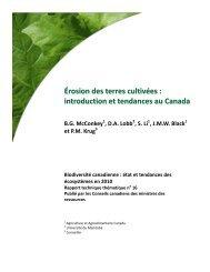 Érosion des terres cultivées : introduction et ... - Species at Risk