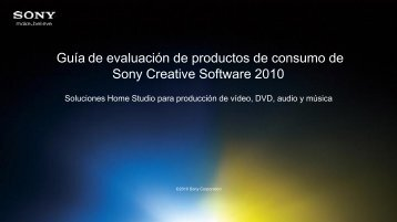 2010 Sony Creative Software Consumer Product Reviewer's Guide
