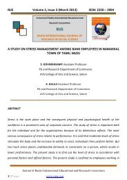 a study on stress management among bank employees in namakkal ...