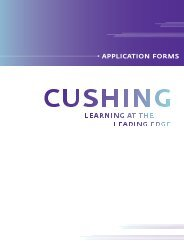 application forms - Cushing Academy