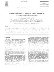 Similarity theorems for fractional Fourier transforms ... - ResearchGate