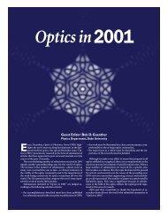 Optics in 2001, Optics and Photonincs News, December 2001