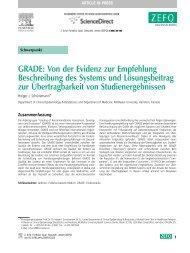 GRADE Von der Evidenz zur Empfehlung ... - GRADE working group