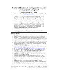 A coherent framework for fingerprint analysis - Nontrivialzeros.net