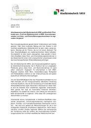 Presseinfo_Medizintechnikstudie AG MT NRW Jan. 2012