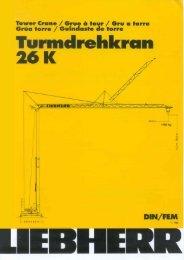 Turmdrehkran 26 K - Liebherr