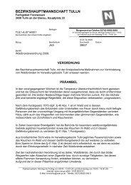 Verordnung der BH Tulln - BFKDO Tulln