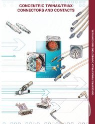 Sabritec Concentric Twinax/Triax Connectors and Contacts