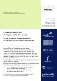 Fachkräftemangel und demographische Entwicklung - Management ...