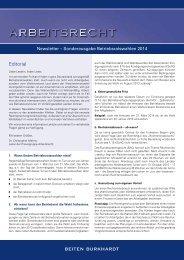 Newsletter Arbeitsrecht Sonderausgabe Betriebsratswahlen 2014