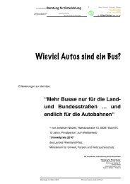 Wieviel Autos sind ein Bus? - physicstoDot