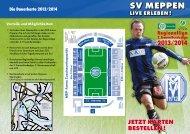 Flyer Dauerkarten Saison 2013/2014 - SV Meppen 1912 eV