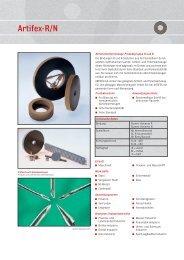 ARTIFEX - Normschleifwerkzeuge Produktgruppe R und N