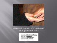 Lesen Sie Kirchenstiftung Zukunft - Stiftung Bürgerengagement Saar