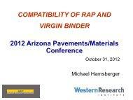 Compatibility of RAP & Virgin Binders - Pavements/Materials ...