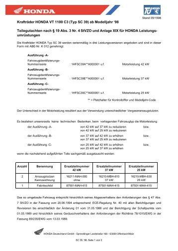 SC39, ab 1998 (pdf, 107 KB) - Honda