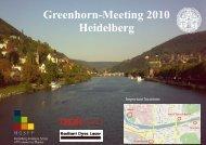 Greenhorn-Meeting 2010 Heidelberg