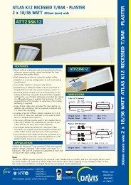 Recessed T/Bar Diffused T8 - Davis Lighting