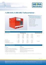 Trafo 1250 kVA - HO-MA-Notstrom