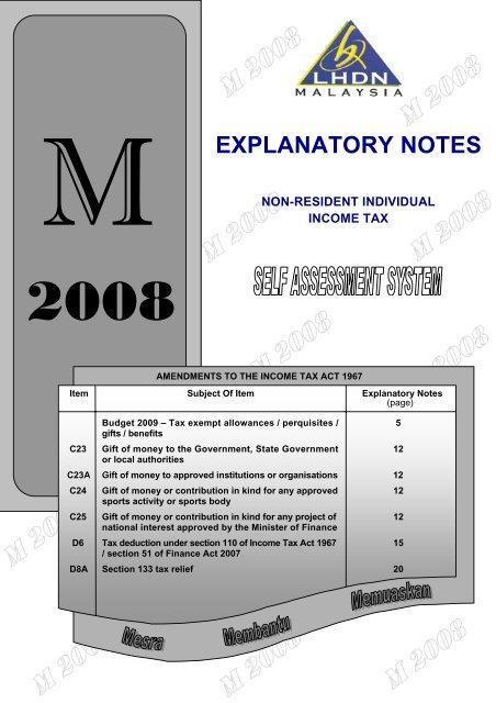 Explanatory Notes Lembaga Hasil Dalam Negeri