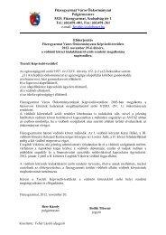 Előterjesztés a védőnői körzet kialakításáról szóló ... - Füzesgyarmat