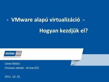 VMware alapfogalmak
