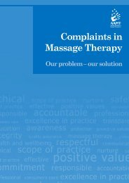 Complaints in Massage Therapy - AAMT
