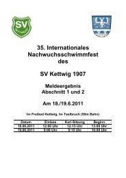 Meldeergebnis 2011 - Schwimmverein Kettwig 07 e.V.