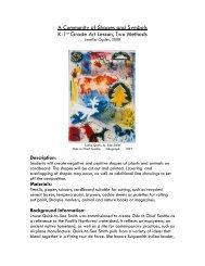 Grades K-1: ACommunity of Shapes - Missoula Art Museum