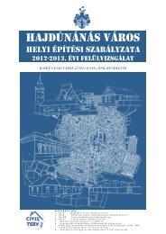 Hajdúnánás Város Helyi Építési Szabályzata 2012-2013. évi ...