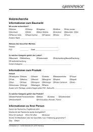 Informationen zum Produkt - Greenpeace