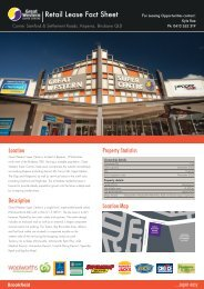 Retail Lease Fact Sheet - Great Western Super Centre