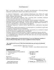 a számvizsgáló bizottság 2006. évi pénzügyi ... - Magyar Huszár