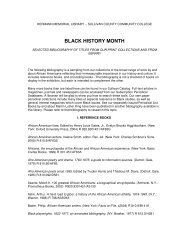 BLACK HISTORY MONTH - Sullivan County Community College