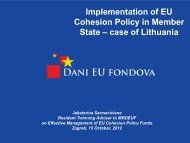 Implementation of EU Cohesion Policy in Member State – case of ...