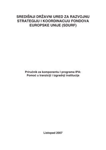 Preuzmite publikaciju - Ministarstvo regionalnoga razvoja i fondova ...