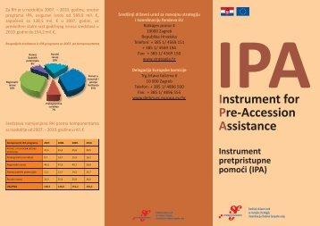 IPA letak.pdf - Ministarstvo regionalnoga razvoja i fondova Europske ...
