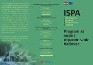 ISPA_Karlovac letak.pdf - Ministarstvo regionalnoga razvoja i ...