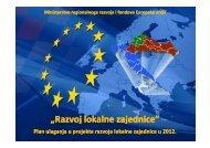 """""""Razvoj lokalne zajednice"""" - Ministarstvo regionalnoga razvoja i ..."""