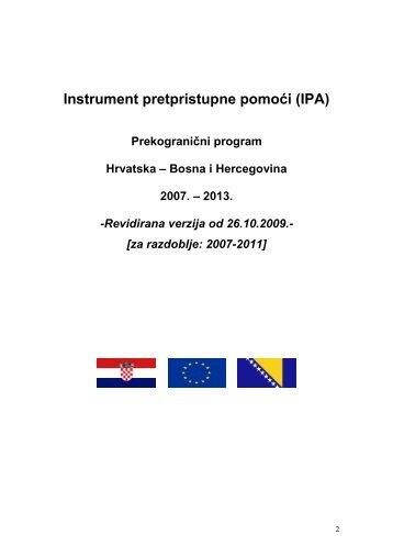 Instrument pretpristupne pomoći (IPA) - Ministarstvo regionalnoga ...