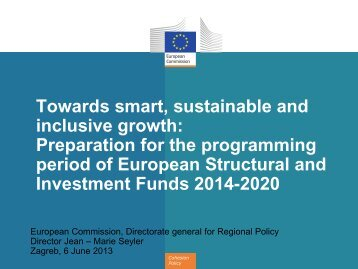 Towards smart, sustainable and inclusive growth: Preparation for the ...