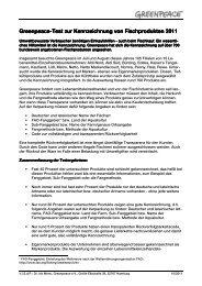 Greenpeace Kennzeichnungstest 2011