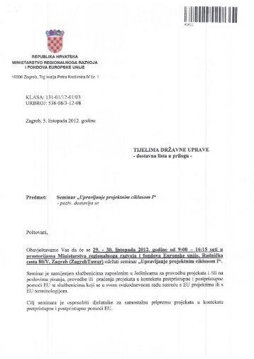 liJllllllllllllllllllll - Ministarstvo regionalnoga razvoja i fondova ...