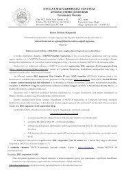REKAN 1 éves tájékoztató levél pót - NYME Apáczai Csere János Kar