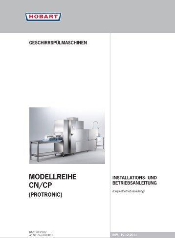 Geschirrspülmaschinen installations- und ... - HOBART GmbH